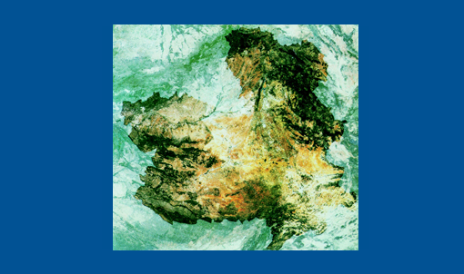 Geografía de Castilla-La Mancha. Imagen satélite.