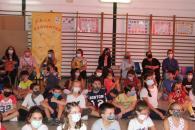 La consejera de Igualdad y portavoz del Gobierno regional, Blanca Fernández, asiste a los actos organizados por el Colegio 'Cervantes' para celebrar el Día Internacional de la No Violencia.
