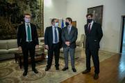 Reunión con los empresarios Fernando Jerez y Jordi Gallego