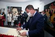 EL PRESIDENTE DE CASTILLA-LA MANCHA INAUGURA LA REFORMA DEL MUSEO DEDICADO A SARA MONTIEL Y VISITA LA CASA CUEVA DE 'LA PASTORA MARCELA', EN CAMPO DE CRIPTANA