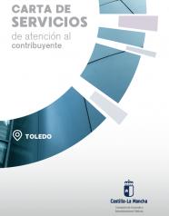 Caratula Folleto divulgativo CS de Atención al Contribuyente de Toledo