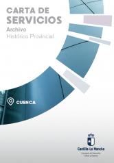 Caratula folleto carta de servicio archivo historico provincial cuenca