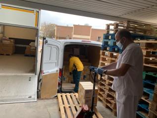 Recepción de nuevos artículos de protección para profesionales sanitarios en Albacete
