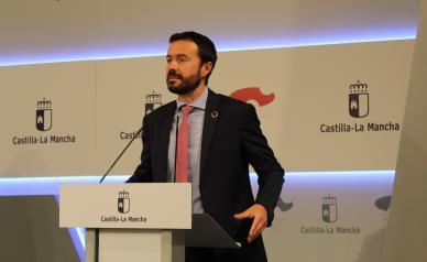 El consejero de Desarrollo Sostenible, José Luis Escudero, ofrece una rueda de prensa