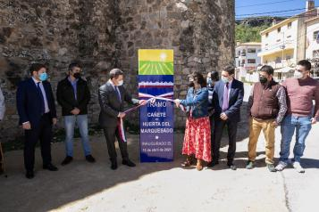 Inauguración de la mejora de la CM-2106 en Cañete