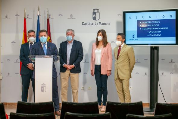 Reunión con los alcaldes de Illescas, Yuncler y Yeles