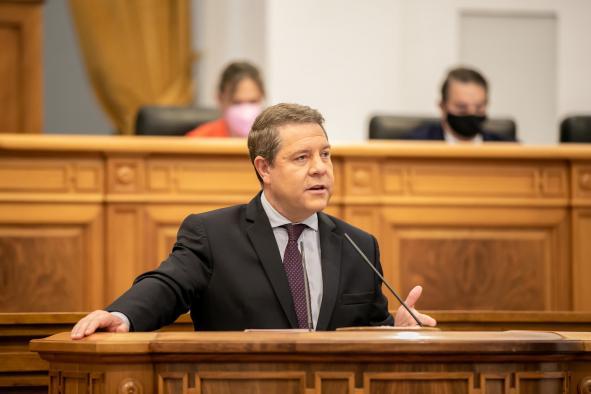 El presidente de CLM en el Debate sobre el estado de la región 2021