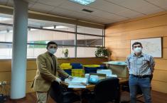 Castilla-La Mancha lleva a cabo el segundo reparto de mascarillas a los trabajadores de los servicios del transporte urbano de la región