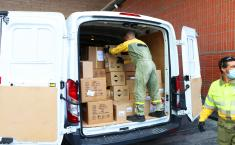 El Gobierno de Castilla-La Mancha ha distribuido esta semana otros 346.000 artículos de protección para los profesionales sanitarios
